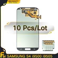 10 pçs lcds originais para samsung galaxy s4 display lcd com quadro i9500 i9505 i9506 tela de toque digitador assembléia substituição