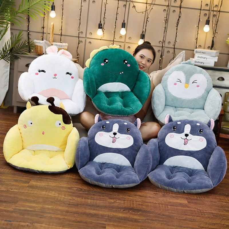 6 Types Cute Animal Shaped Sofa Seat Soft Office Sedetary Computer Chair Cushion Lazy Waist Backrest for Adults Kids Baby