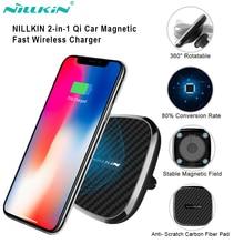 Nillkin 10 Вт Qi Беспроводное Автомобильное зарядное устройство для Iphone 12 11 Pro max XS 8 держатель с креплением на вентиляционное отверстие для Samsung Note 20 S20 S9 Plus для Mi 9
