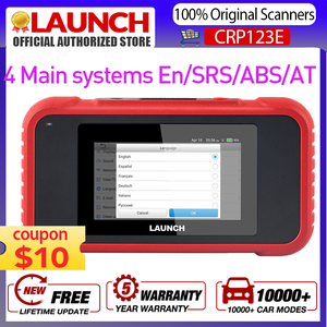 Image 1 - LAUNCH X431 CRP123E OBD2 Code Reader For Engine Airbag SRS Transmission OBDII diagnostic tool x431 CRP123 E Free Update lifetime