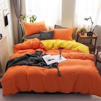 American Style Spring Autumn Bedding Set Dark Green+Gray King Queen Full Single Size Bed sheet Duvet Cover Pillowcase