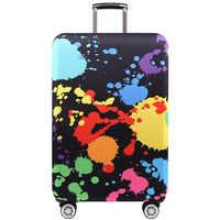 TRIPNUO grubsze Blue City pokrowiec na bagaż walizka podróżna ochronna pokrywa dla tułowia przypadku stosuje się do 19 ''-32'' pokrowiec na walizkę