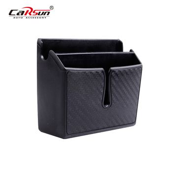 Car Organizer Storage Box Coin Phone Holder Seat Pocket Auto Interior Styling Accessorie Car Door Seat Organizer   Truck Storage black car auto interior plastic coin case storage box holder container organizer