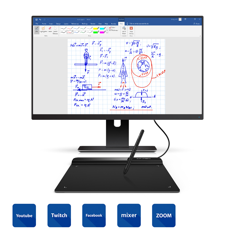 XP-Pen Star G640 Graphics Tablet Digital Tablet Drawing For OSU And Drawing 8192 Levels Pressure Art Online Education Meeting