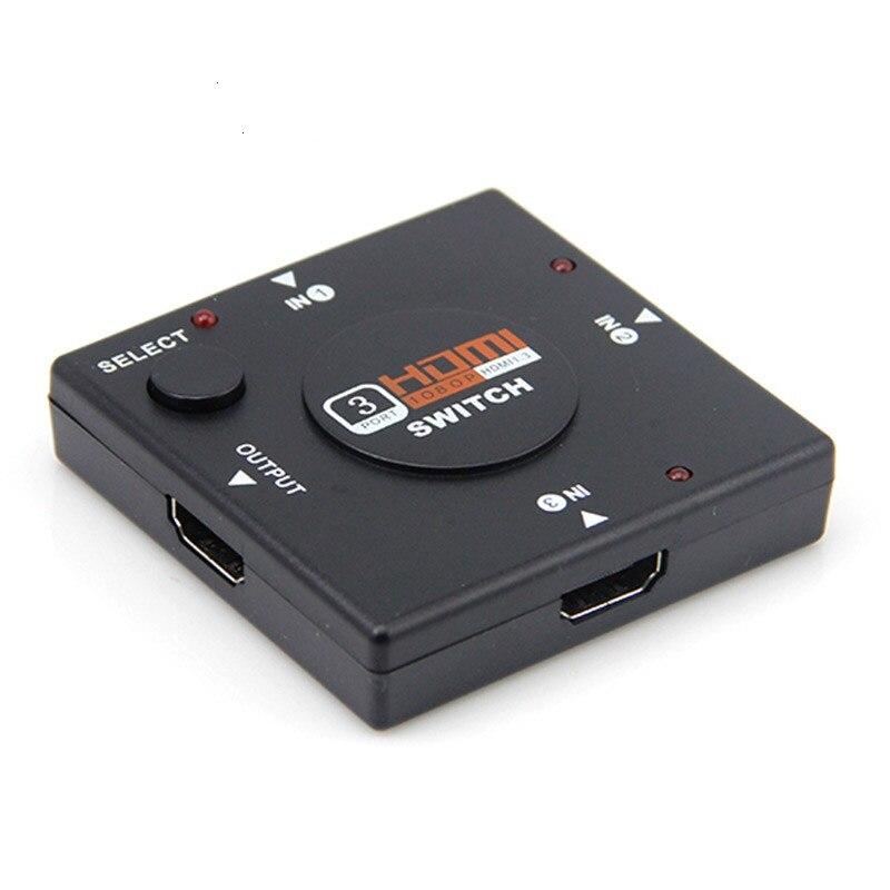 3 Port HDMI Splitter Switcher 1x3 Mini HDMI Port 3 Input 1 Output For HDTV 1080P Video DV HDTV 1080P Hdmi Kvm Switches