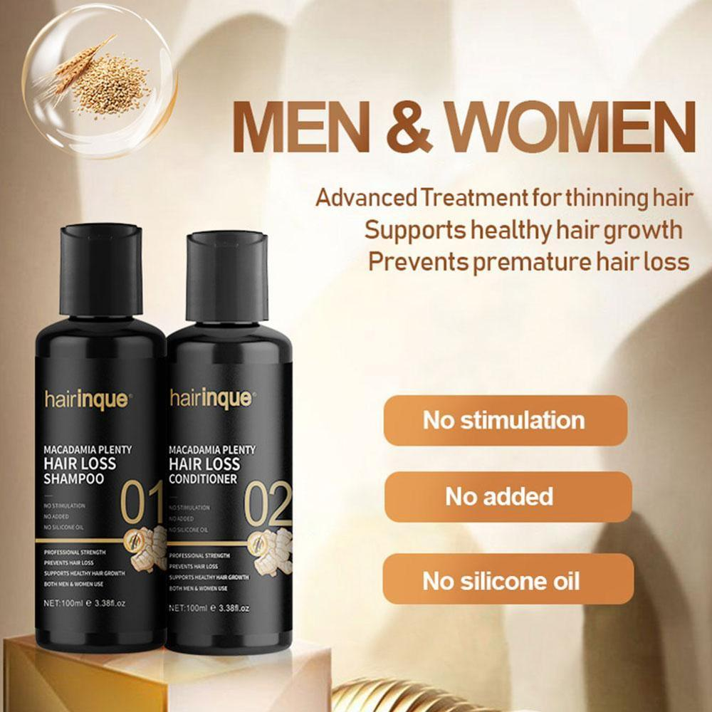 Macadamia Plenty Hair Loss Shampoo Conditioner Set Hair Regrowth Thicken Hair For Hair Root Repair Care Set B8L1 image