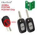 OkeyTech 2 Taste 433Mhz PCF7946/7947 Chip Modifizierte Auto-Remote-Key Für Renault VIVARO MOVANO VERKEHRS MASTER KANGOO 2004-2008