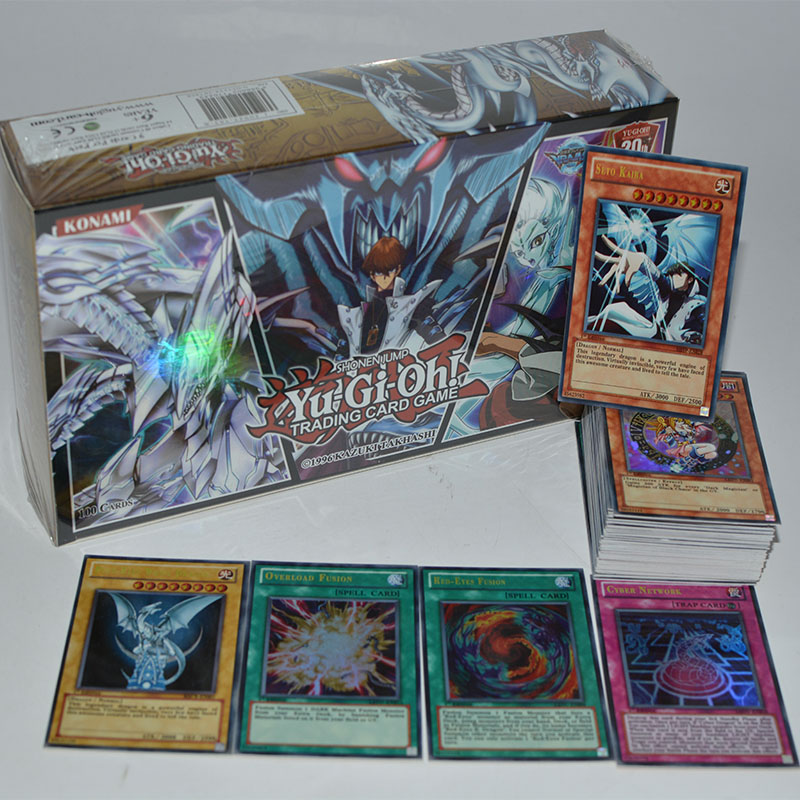 Yu Gi Oh 100 Piece Set Box Holographic Card Yu Gi Oh Anime Game Collection Card Children Boy Children's Toys