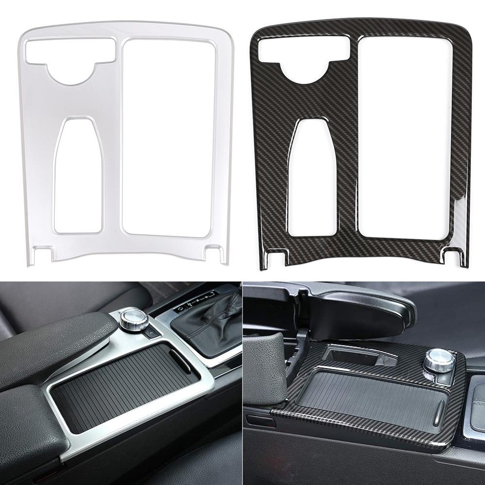 Discount! Car Styling Carbon Fiber Multimedia Handrest Panel Covers For Mercedes Benz W204 W212 C Class E Class Wholesale CSV