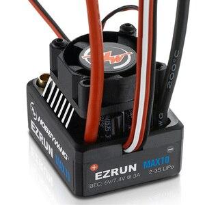 Image 3 - Hobbywing EZRUN MAX10 60A กันน้ำ ESC 6V/7.4V BEC 2 3S Lipo ความเร็วคอนโทรลเลอร์ Brushless ESC สำหรับ 1/10 RC รถ