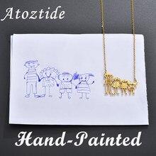 Atoztide – colliers et pendentifs personnalisés en acier inoxydable pour enfants et femmes, bijoux ras du cou, cadeau idéal