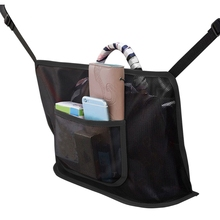 Car Net Pocket Handbag Holder, Driver Storage Netting Pouch,Car Hooks for Purses and Bags Front Seat