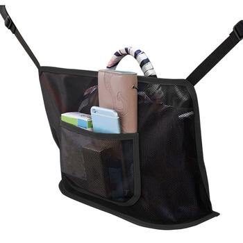 Wieszak na torebki z siatki samochodowej pokrowiec na siateczkę do przechowywania kierowcy haczyki na torebki i torby przednie siedzenie tanie i dobre opinie KOU JIANG CN (pochodzenie) Seat Powrót Torba normal