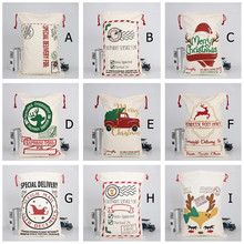 2020 Large Canvas Bag Merry Christmas Santa Sacks Xmas Stocking Reindeer Gift Candy Storage Bag Christmas Decor closet organizer