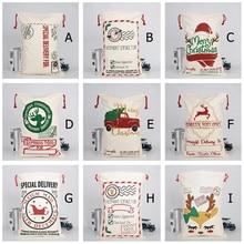 2020 große Leinwand Tasche Frohe Weihnachten Santa Säcke Weihnachten Strumpf Rentier Geschenk Candy Lagerung Tasche Weihnachten Decor closet organizer