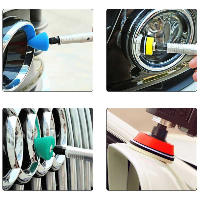 Pulidora de detalles de coches eléctricos SPTA de 3 pulgadas, pulidora de 110/230V, pulidora de Auto M14, pulidora pequeña de hilo, pulidora de herramientas para pulir coches