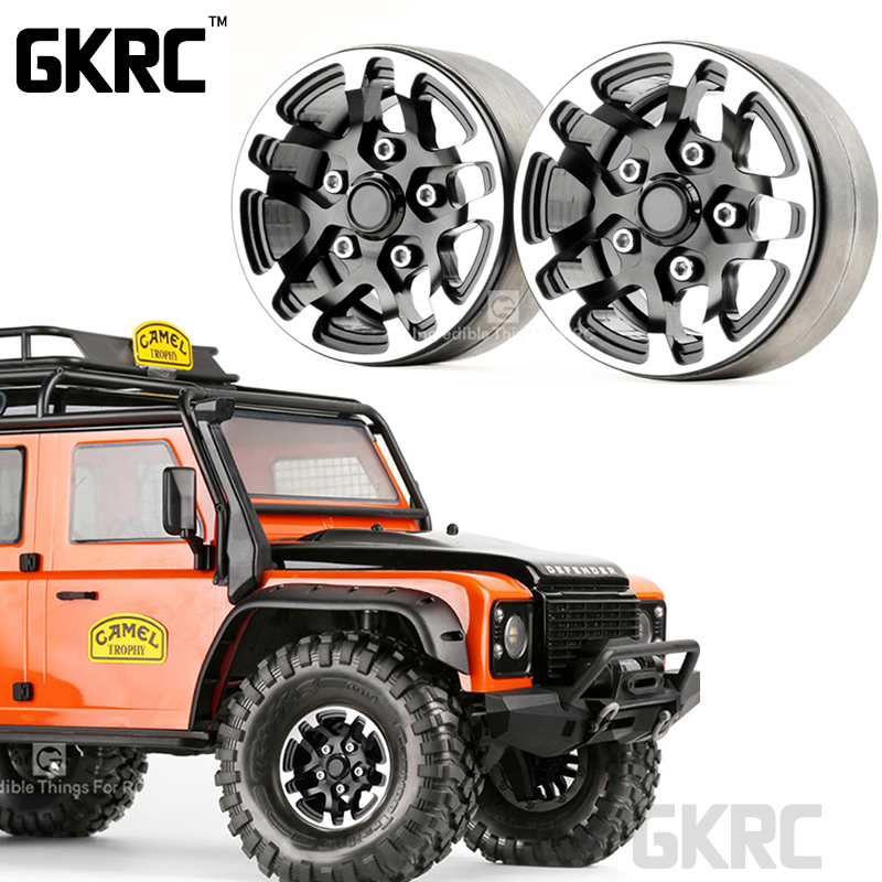 Gkrc Rc Rock Crawler Metal Wheel Rim 1.9 Inch Beadlock For 1/10 Axial Scx10 90046 Tamiya Cc01 D90 D110 Vs4 Tf2 Traxxas Trx-4(China)