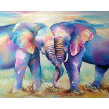 Full Square/Round Drill 5D DIY Diamond Painting Animal elephant Embroidery Cross Stitch mosaic Rhinestone Home decoration M491 image