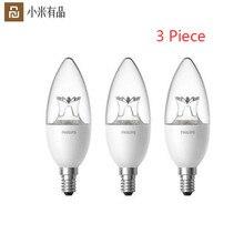 Youpin Lámpara LED con forma de vela inteligente, Bombilla Original E14 de 3,5 W, 0.1A, 220 240V, 50/60Hz, Wifi, Control remoto para Mi aplicación para hogares