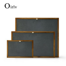 Oirlv New Solid Wood Jewelry Display Stand with Microfiber Ring Pendant Bangle Display Tray Table Set Showcase Exhibitor