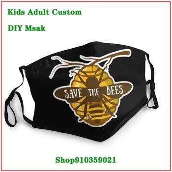 Trendy pop masque adulte lavable Save The Bees Shirt Aminal Lover Gift White mascara reutilizable con filtro mascarillaa tela