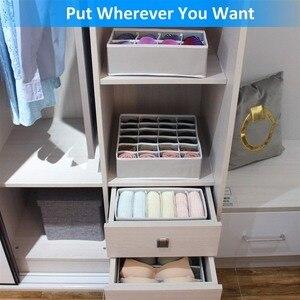 Image 4 - 4pcs Foldable Multipurpose Drawer Organizer Divider Storage Box Case Closet Clothes Underwear Socks Panty Organizer Dropshipping