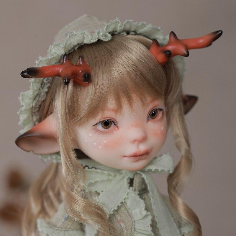 Fantasia anjo 1/6 bjd boneca lele msd resina brinquedos para crianças bebê veados boneca animal anime brinquedo diy