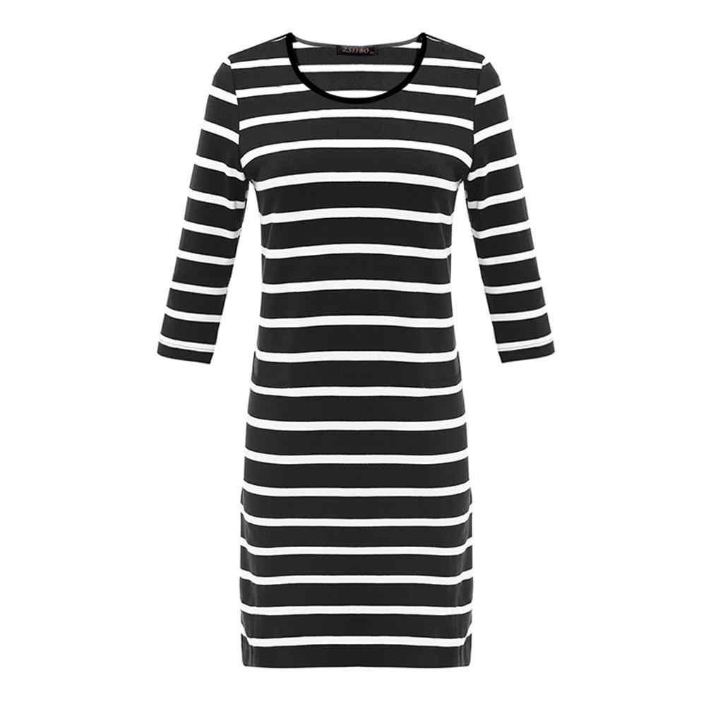 Бесплатная доставка, женские платья с длинным рукавом в черно-белую полоску с вырезом лодочкой, облегающие Сексуальные облегающие платья для осени s-xl Размер