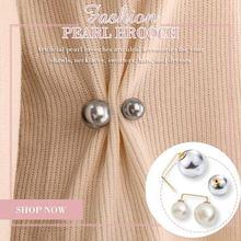 Модная брошь с жемчугом милая креативная декоративная для одежды