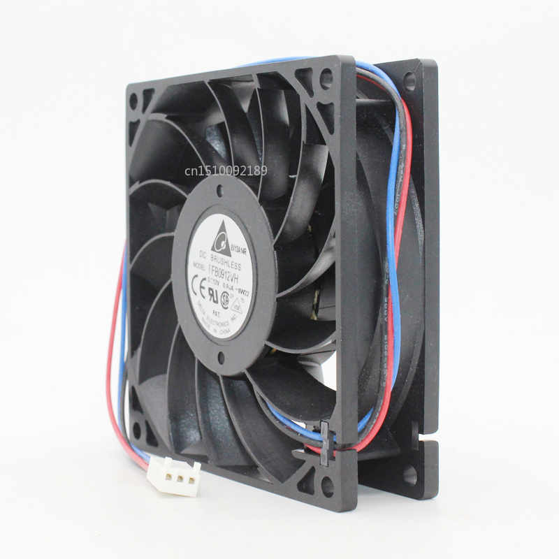 For Original Delta FFB0912VH 9cm 92mm Fan 92x92x25mm DC12V 0.90A 3 Lines Computer Chassis CPU Server Cooling Fan Free Shipping