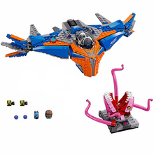 10748 Marvel Avengers Super Heroes The Milano Vs. Abilisk Aircraft Building Block Brick Toys Compatible With 76081