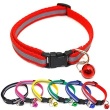 Pet-Reflective-Collar Accesories For Puppy with Bell Safety-Buckle-Neck Dog Cat Adjust