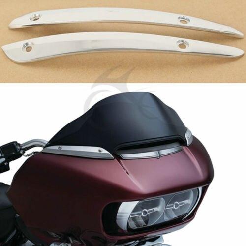 Garniture latérale de pare-brise chromé pour la glisse de route Harley FLTRU FLTRX 2015-2017 nouveau