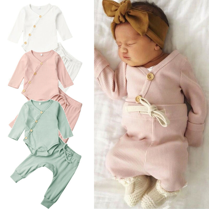 Infant Clothing Baby Boy Girl Pajamas Pjs Set Sleepwear Nightwear Clothes Fall Cotton Casual Outfit Baby Clothing