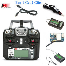 FLYSKY FS i6X i6X 2.4G 10CH AFHDS 2A Radio Transmitter with X6B/iA6B/A8S/iA10B/iA6 Receiver for RC Airplane Helicopter FPV Drone