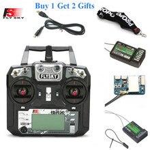 FLYSKY transmisor de Radio con receptor para Dron, avión, helicóptero, FPV, RC, i6X, 2,4G, 10CH, AFHDS, 2A, X6B/iA6B/A8S/iA10B/iA6