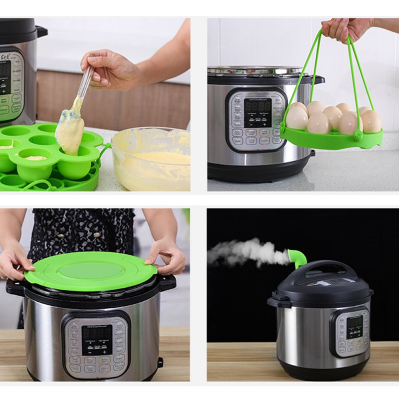 Pressure Cooker Ste·mer Accessories With Lid Egg Tools Cake Molds Baby Food Storage Container Dropship