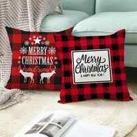 Fundas de almohada de Navidad decoración Feliz Navidad para el hogar regalos de Navidad 2019 decoración de Navidad Feliz Año Nuevo 2020