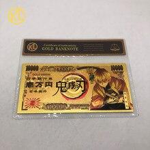 8 tipos japonês anime demônio slayer com caixa de plástico ouro plástico banco dinheiro lembrança presente dropshipping