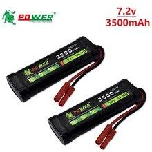 7.2v 3500 mah 15c sc * 6 pilhas ni-mh bateria com plugue de banana para rc controle remoto brinquedos rc carros 7.2v bateria recarregável