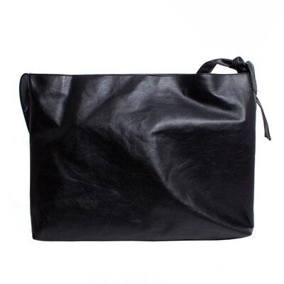 2020 original bandolera Correa nudo diseño oversize super suave bolso de cuero solo hombro bandolera sucio seis TANTO - 5