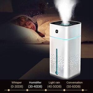 Image 2 - Humidificateur dair à ultrasons diffuseur muet 7 couleur veilleuse 1000ML Mini aromathérapie diffuseurs Cool brumisateur fabricant maison purificateur