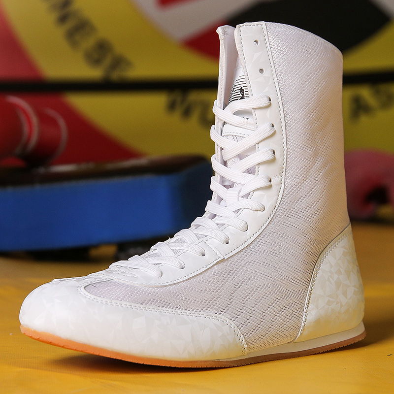 Men women Weight Wrestling Shoes Breathable Mesh Boxing Sneakers Mens Professional Boxing Shoes Athletic Sneakers