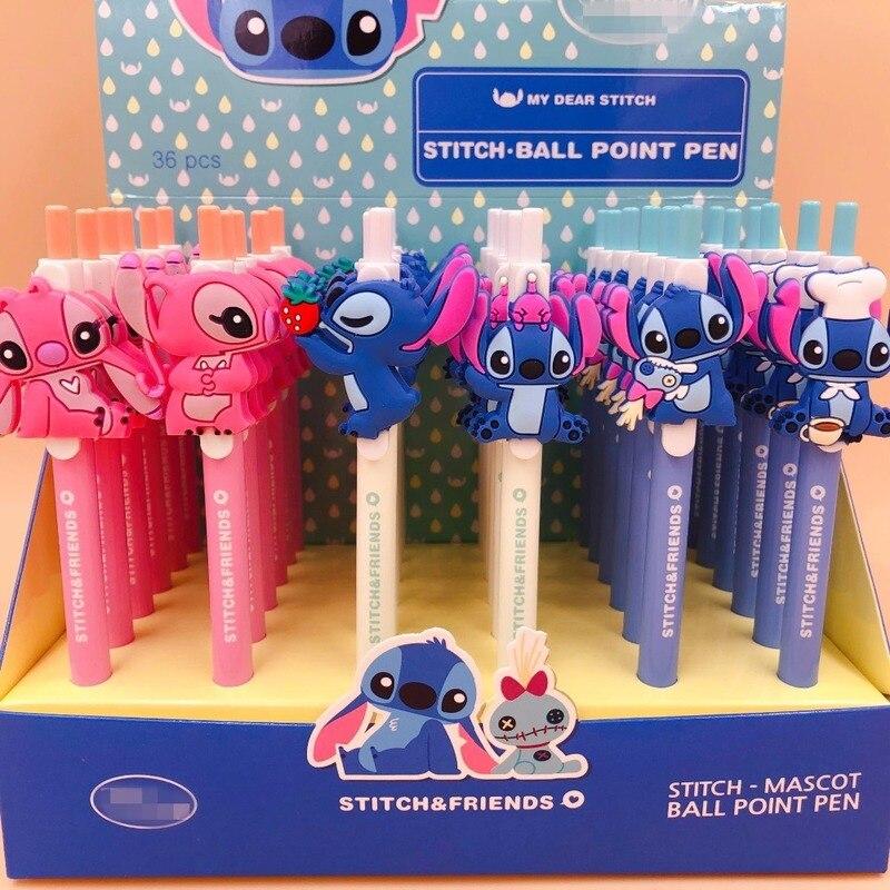 36 pièces/lot de belle poupée de dessin animé créatif stylo à bille étudiant prix cadeau promotionnel papeterie de bureau