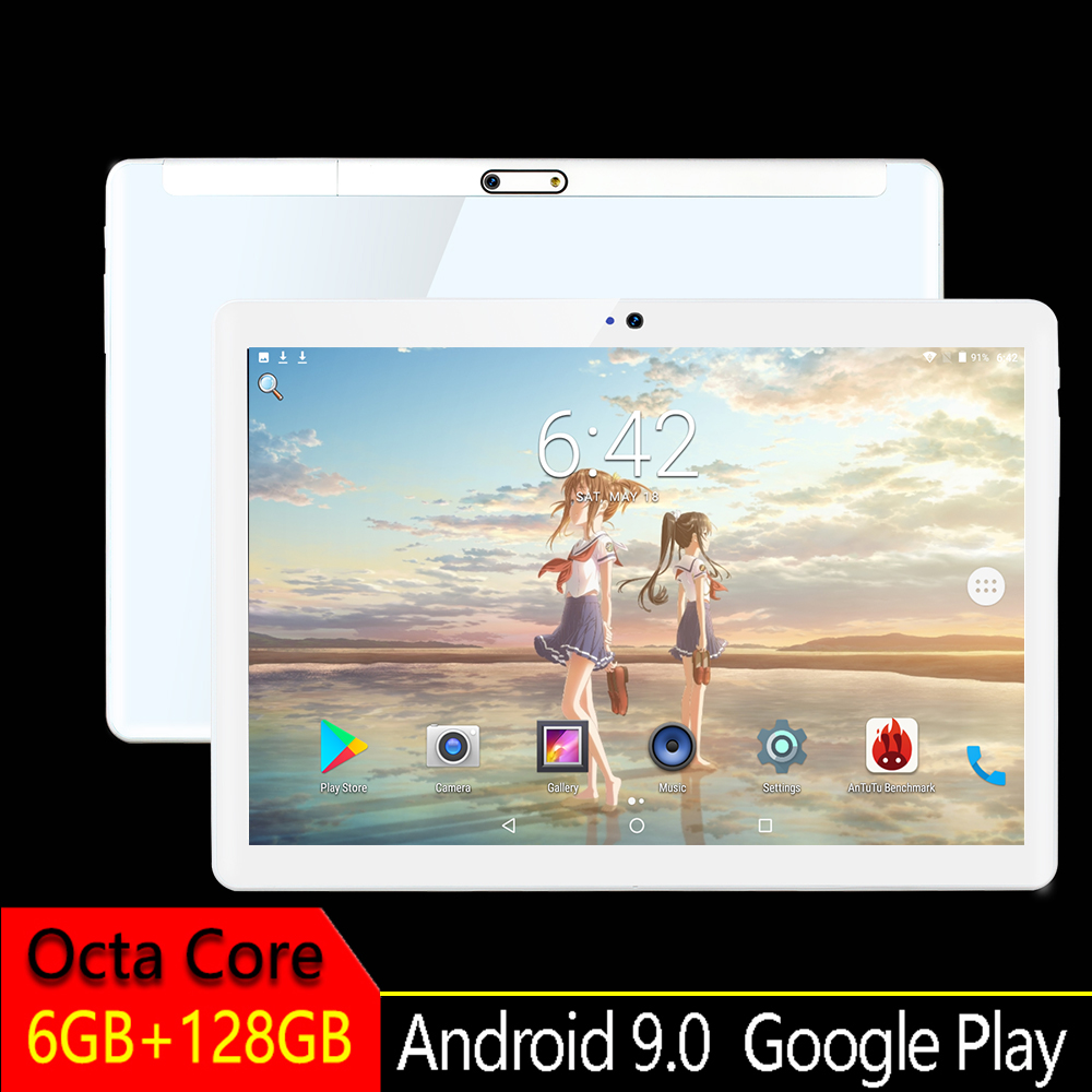 2019 New 10 Inch Touchscreen Smart Tablet Pcs  Android 9.0  Octa Core  MTK8752  RAM 6GB ROM 128GB 1920*1200 The  Glass Tablet