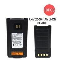 מכשיר הקשר החלפת 10X סוללה עבור Hytera PD985 PD985U מכשיר הקשר BL2016 2000mAh Li-on (1)