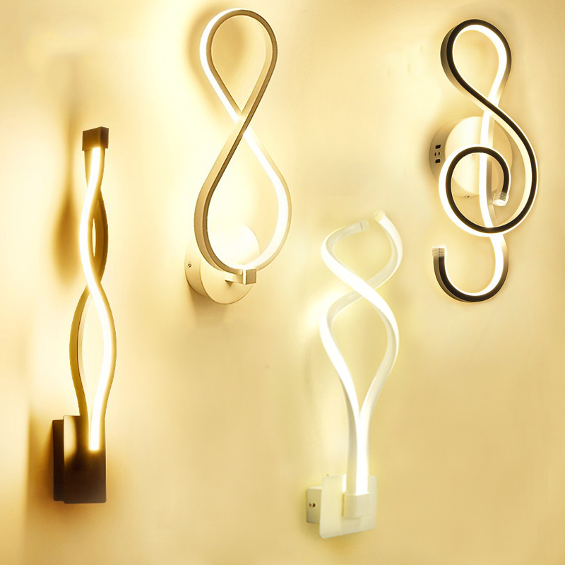 Led Bedroom Bedside Wall Lamp Creative Simple Modern Lamp Art Wall Lamp Acrylic  Corridor Staircase Lights