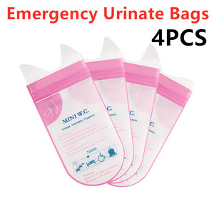 4PCS/Set Outdoor Emergency Urinate Bags Easy Take Piss Bags Travel Mobile Toilet For Baby/Women/Men Portable Vomit Bag 700ml(China)