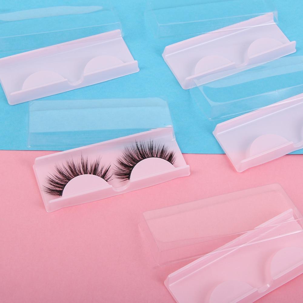 10PCS Portable Plastic False Eyelashes Eye Lashes Storage Box Makeup Cosmetic Case Organizer Display Container Travel For Beauty