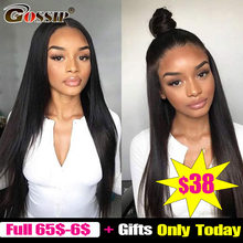 13x4 Lace Front Human Hair Wigs Straight Pre Plucked Hairline Baby Hair Gossip 150% Density Malaysian Remy Hair Lace Front Wigs(China)